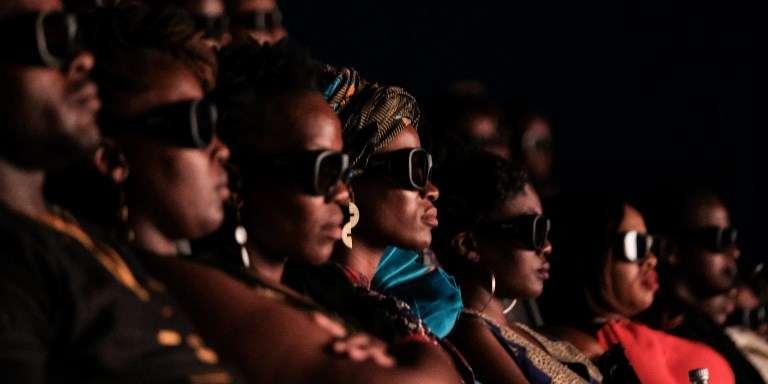 Projection du film«Black Panther» à Nairobi, au Kenya, le 14février 2018.