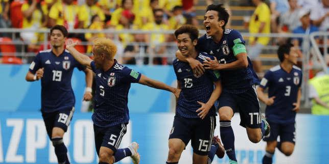 La joie des Japonais après le but victorieux de Yuya Osako.