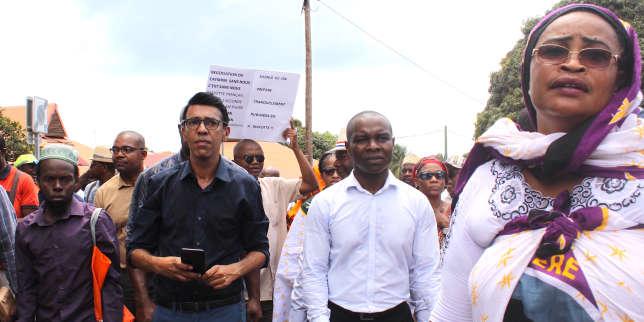 Le sénateur (LRM) Thani Mohamed Soilihi, à Mamoudzou, en septembre 2017.