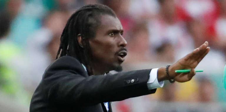Le sélectionneur sénégalais Aliou Cissé au Spartak Stadium, à Moscou, le 19 juin 2018.