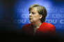 La chancelière Angela Merkel, lors de la conférence de presse, donnée à l'issue des réunions avec les dirigeants de la CDU, à Berlin, le 18 juin.