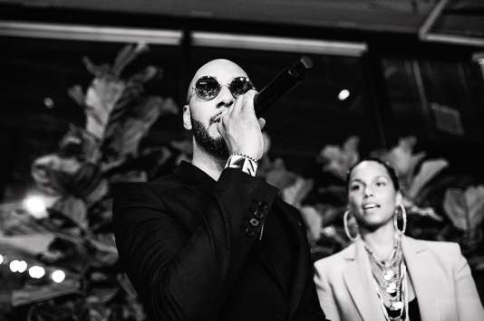 Le producteur Swizz Beatz à New York, le 28 avril 2018.