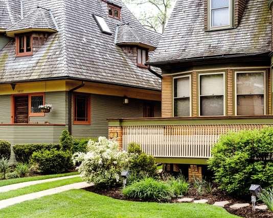 Les maisons du quartier résidentiel de Oak Park.