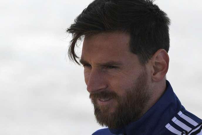 Le footballeur argentin, Lionel Messi, le 20 juin avant le match Argentine-Croatie.