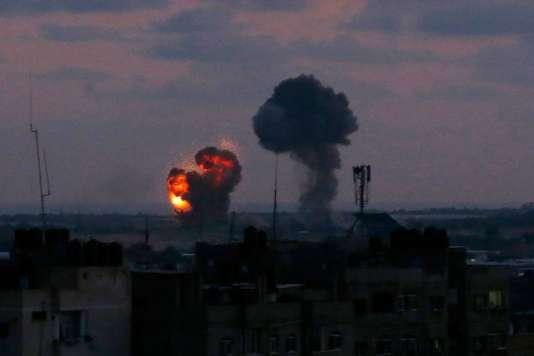 Une explosion à Rafah, dans le sud de la bande de Gaza, le 20 juin.