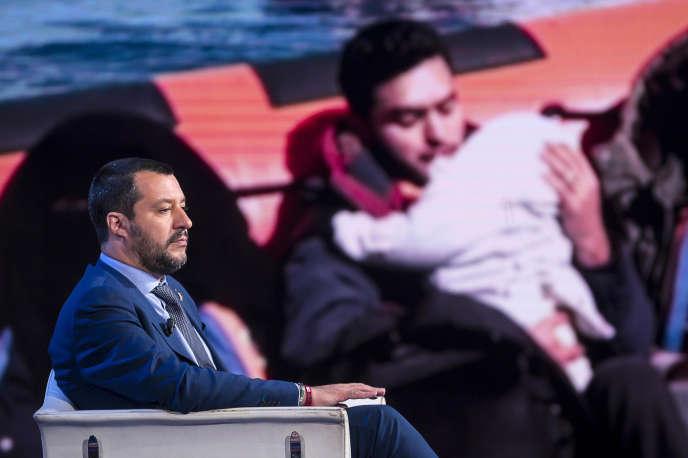 Le ministre Salvini dans une émission de la RAI, le 20 juin.