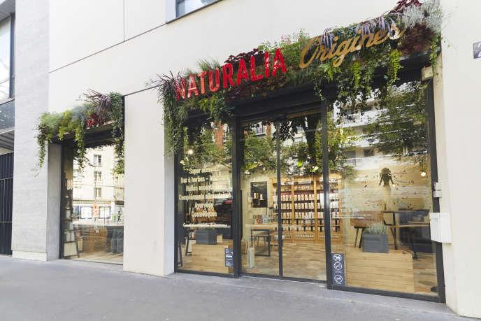 Le magasin de produits de beauté bio Naturalia Origines, à Paris.