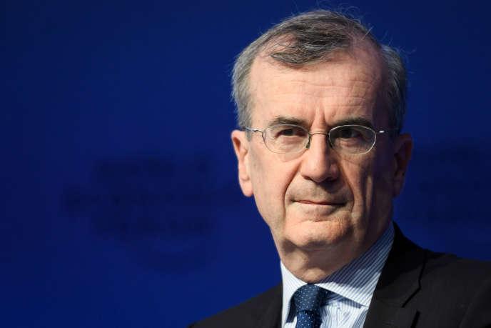 François Villeroy de Galhau, le 26 janvier à Davos.