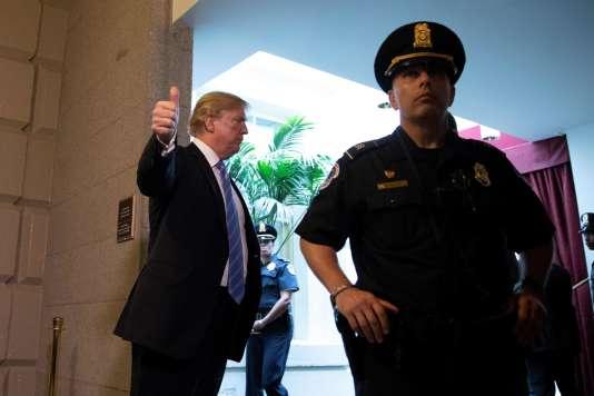 Le président américain Donald Trump,19 juin, au Capitol, à Washington.