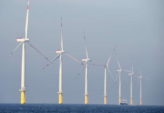Un parc éolien en mer, en Allemagne.