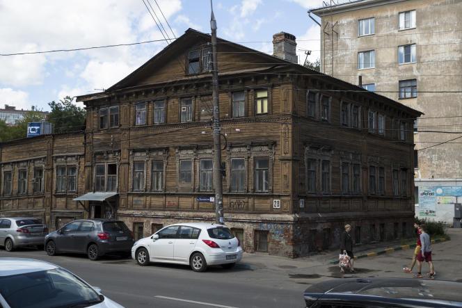 Une maison en bois du XIXesiècle en plein centre-ville.