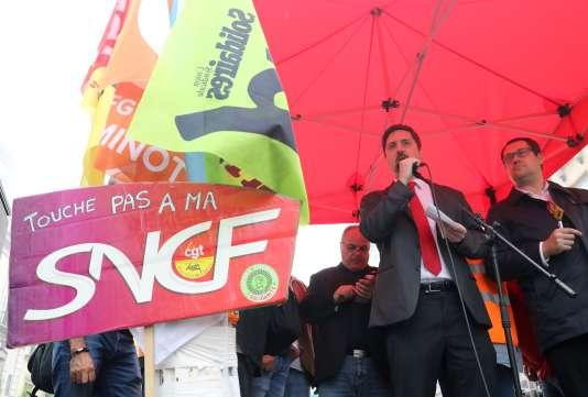 Selon Laurent Brun, secrétaire général de la CGT-Cheminots, les dates de grève seront fixées en fonction des «dates de réunions de l'entreprise».
