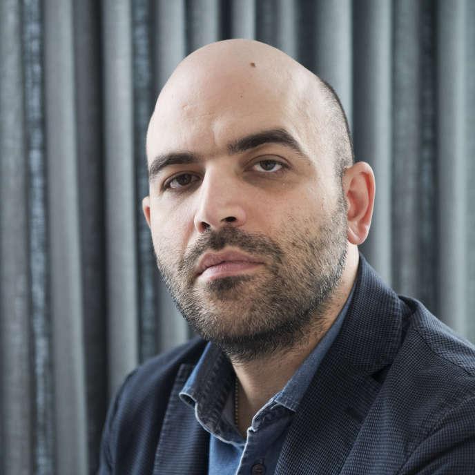 L'écrivain italien Roberto Saviano au Salon du livre de Göteborg (Suède), en septembre 2017.