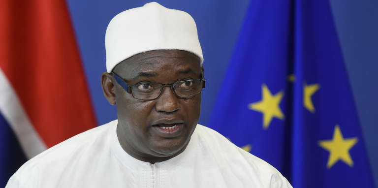 Le président gambien, Adama Barrow, à Bruxelles, le 22 mai 2018.