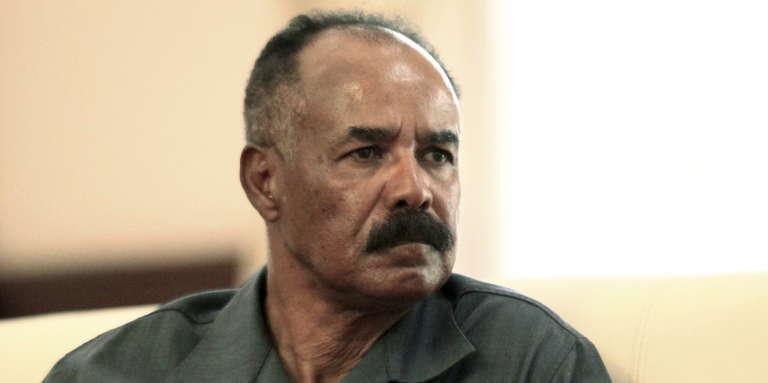 Le président érythréen, Issayas Afeworki, à Khartoum, au Soudan, en juin 2015.