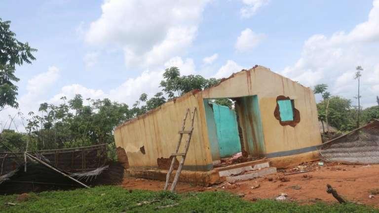 Un village abandonné dans la région del'Adamaoua, dans le nord du Cameroun, en juin 2018.