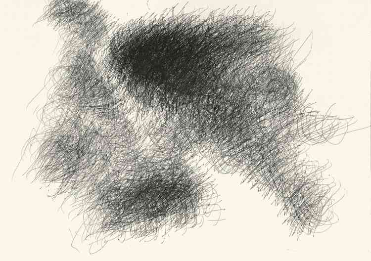 «Yuichi Saito commence à dessiner en 2002. Inlassablement, il reproduit des titres de programmes télé qu'il affectionne. S'ils s'appuient sur cette transcription, ses dessins se transforment en une abstraction formelle qui s'éloigne du modèle pour créer des nuages d'idéogrammes, une écriture qui lui est propre.» Bruno Decharme