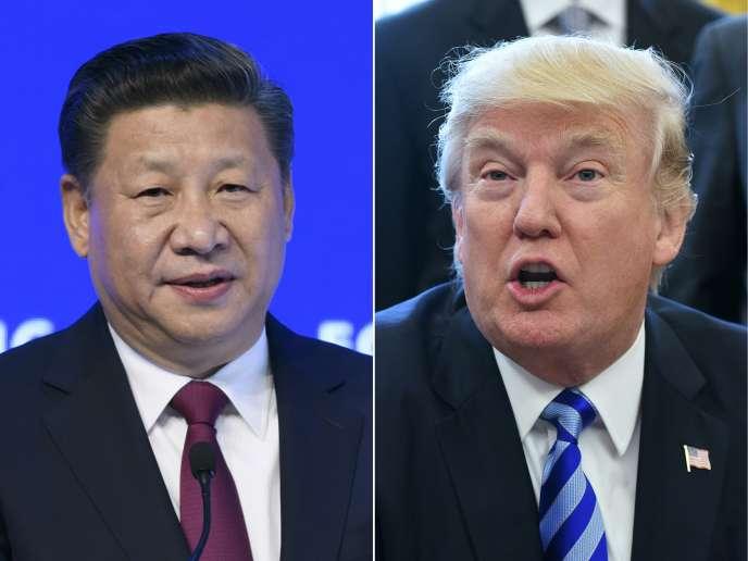 Le président chinois, Xi Jinping, et le président des Etats-Unis, Donald Trump.