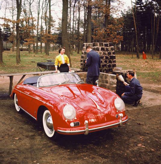 Une Porsche 356A Speedster de 1956.