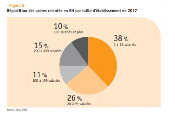 «Les recrutements de cadres RH se sont polarisés sur les petites et moyennes entreprises : 64 % dans les établissements de moins de 100 salariés, et plus particulièrement ceux ayant entre 1 à 19 salariés.»