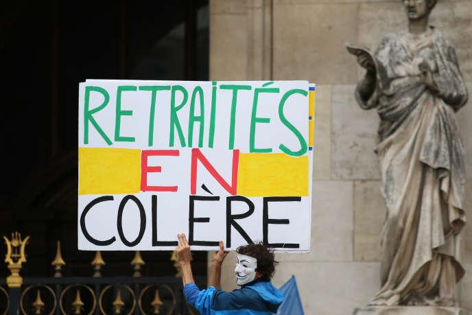 Manifestation de retraités à Paris, le 14 juin.