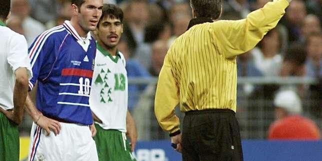 Zinédine Zidane contre l'Arabie saoudite, le 18 juin 1998 à Saint-Denis