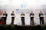 Andrej Babis,Sebastian Kurz, Viktor Orban,Peter Pellegrini etMateusz Morawiecki (de gauche à droite), à Budepest, le 21 juin 2018.