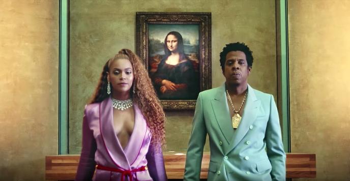 Beyoncé et Jay-Z devant la «Joconde», dans leur clip« Apeshit ».
