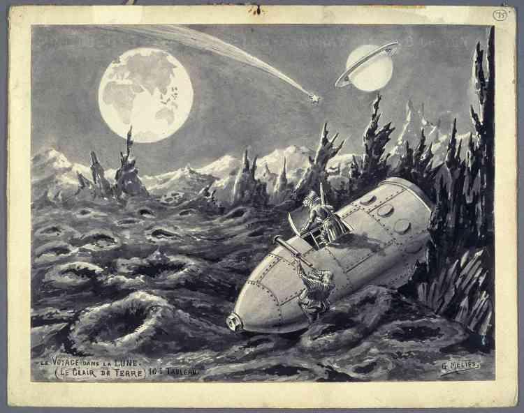 """«Poétique, fantastique, """"Le Voyage dans la lune"""", réalisé en 1902, est devenu le film emblématique de Georges Méliès. Considéré comme le premier film de science-fiction, ce long-métrage pour l'époque est présenté ici en entier. Inspiré de Jules Verne et de H.G.Wells, il retrace l'expédition lunaire de six astronomes qui embarquent à bord d'un obus, propulsé par un canon géant. Arrivés sur la lune, ils assistent à un """"lever de terre"""", rencontrent la population autochtone, les Sélénites, qui les font prisonniers. Ils s'en échappent, retournent sur terre avec un Sélénite accroché à leur vaisseau-obus et sont accueillis triomphalement. Trucages et inventivité font le sel de ce voyage fantastique.» Aline Vidal"""