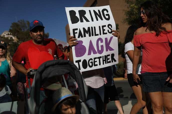 Lors d'une manifestation à El Paso, Texas, contre la politique migratoire de Donald Trump.