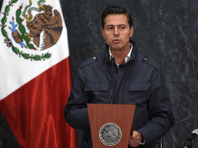 Le président mexicain Enrique Peña Nieto à Mexico en 2017.