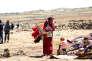 Une famille originaire de la province de Deraa, jeudi 21 juin à Kuneitra.