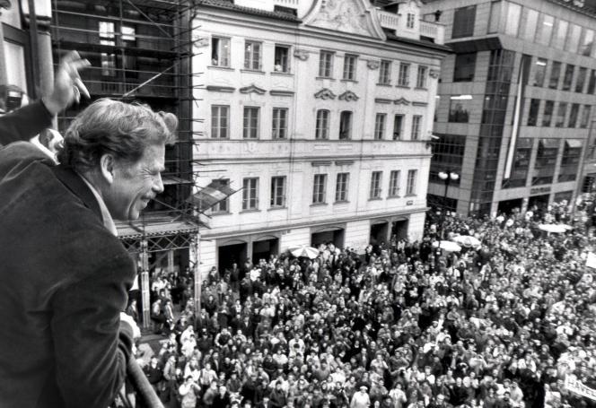 Vaclav Havel à Prague, le 19 décembre 1989.