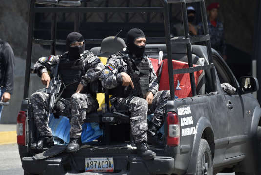 Des forces de sécurité, à Caracas, en mai 2018.