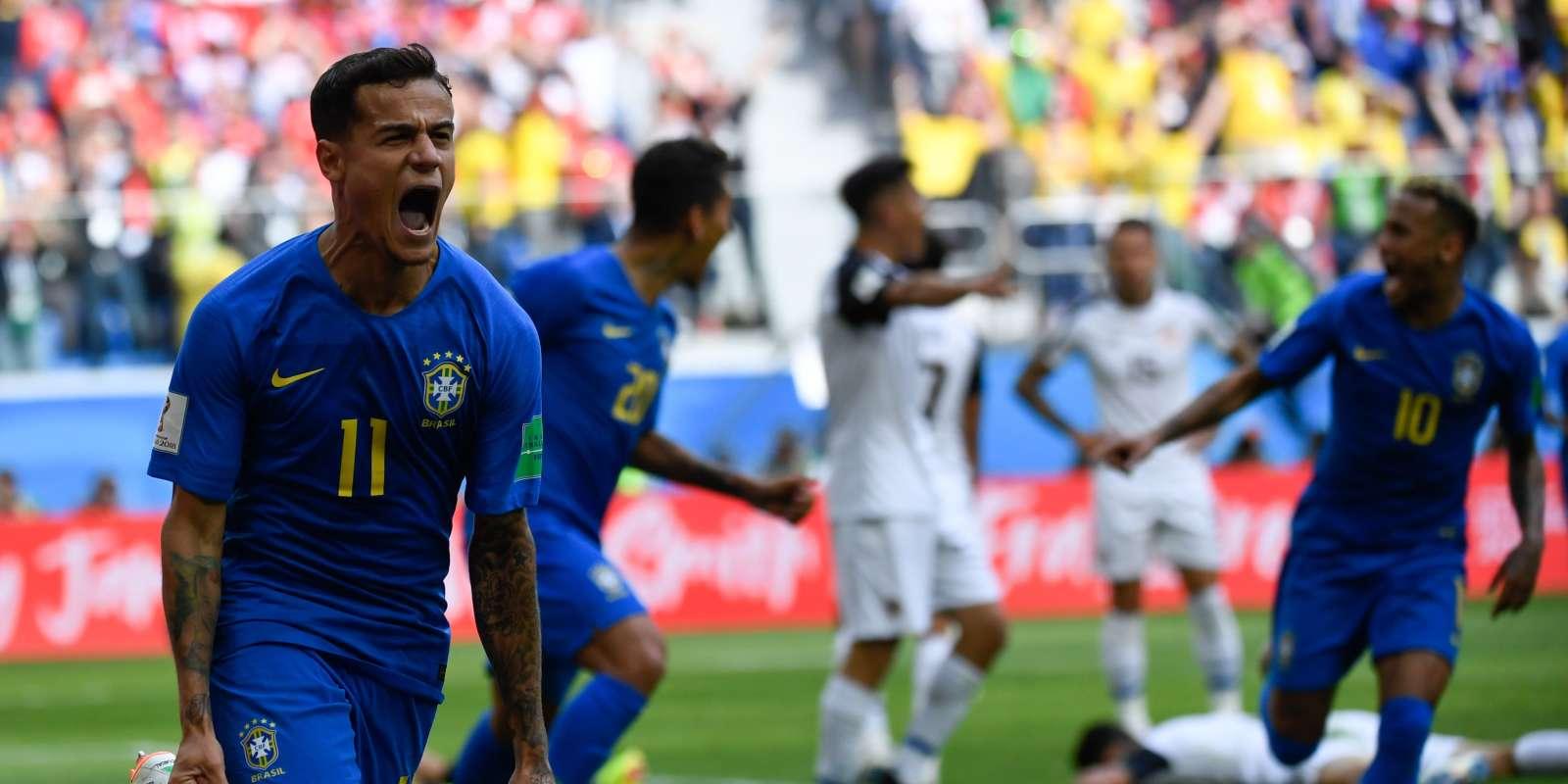 Le Brésilien Philippe Coutinho a marqué dans les arrêts de jeux face au Costa Rica, le 22 juin.