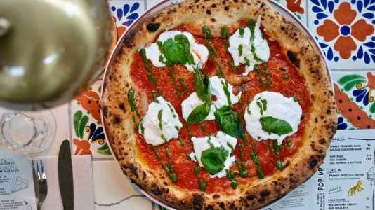 La pizza margherita de La Felicità à Paris.