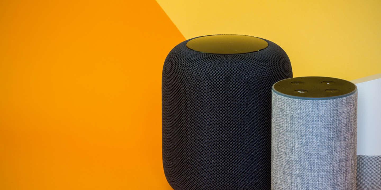 Apple HomePod Google Home Amazon Echo enceintes connectées siri alexa google assistant comparatif meilleure