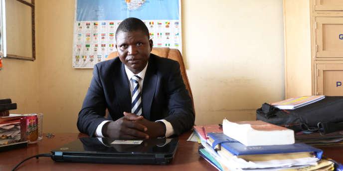L'avocat tchadien Doumra Manassé, à N'Djamena, le 18juin 2018.