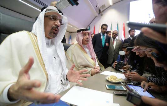 Le ministre saoudien du pétrole, Khalid al-Falih, lors de réunion de l'OPEP, à Vienne, le 22 juin.