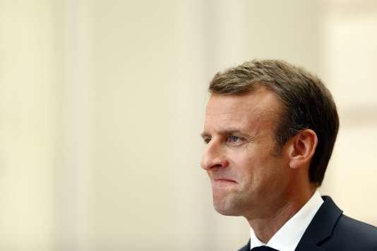 Le président de la République, Emmanuel Macron, samedi 23 juin à l'Elysée.