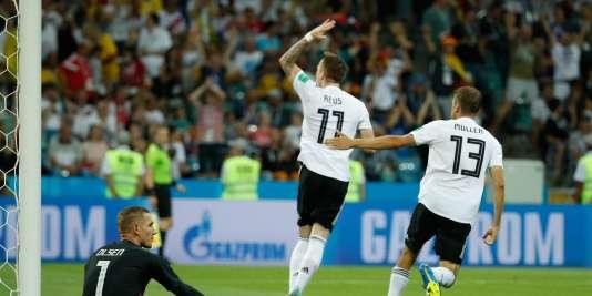 Leur victoire contre la Suède permet à l'Allemagne d'espérer.