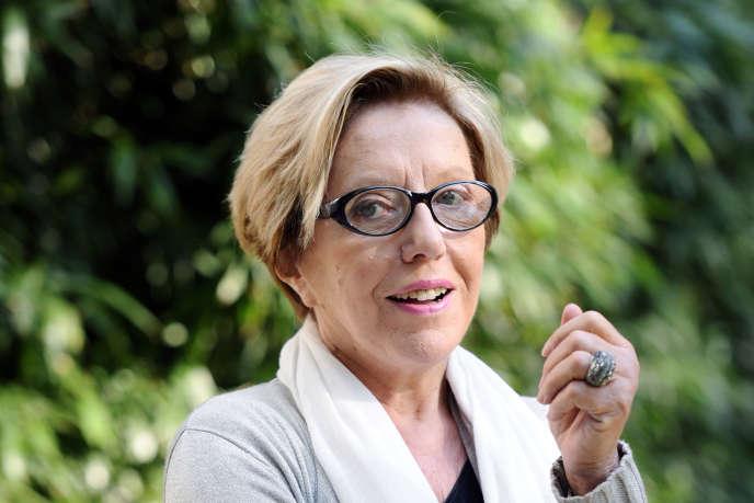 L'académicienne Danièle Sallenave, à Paris, en 2011.