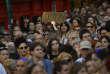 Manifestation contre la mise en liberté provisoire des cinq hommes condamnés pour«abus sexuel» , à Pamplune, le 22 juin.