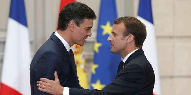 Pedro Sanchez et Emmanuel Macron à l'Elysée, le 23 juin.