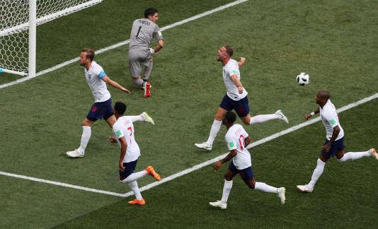 Harry Kane et ses coéquipiers après le second but de l'Angleterre face au Panama.