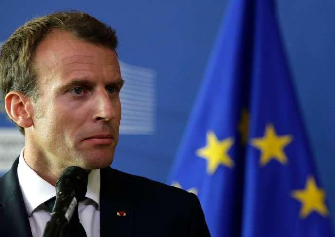 Le président français, Emmanuel Macron, le 24 juin à Bruxelles.