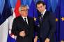 Jean-Claude Juncker, le président de la Commission européenne, etSebastian Kurz, lechancelier autrichien, à Bruxelles, le 24 juin 2018.