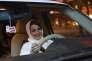 Samar Al-Moqren a pris le volant dès la première heure d'autorisation de conduire pour les femmes, à Riyad, le 24 juin.