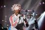 Le chanteur Jay Kay du groupe Jamiroquai en concert à Rabat (Maroc), le 24 juin 2018.