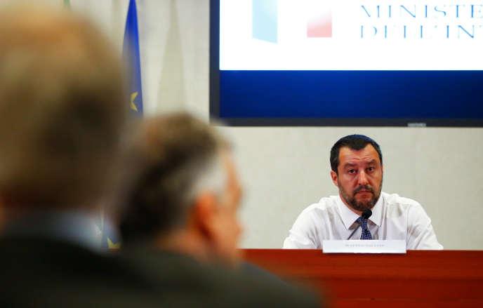 Matteo Salvini, le ministre de l'intérieur italien, le 25 juin.